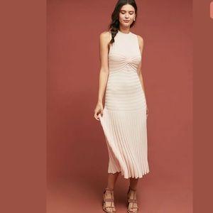 Anthropologie TALULA rasa pink twist dress xs new